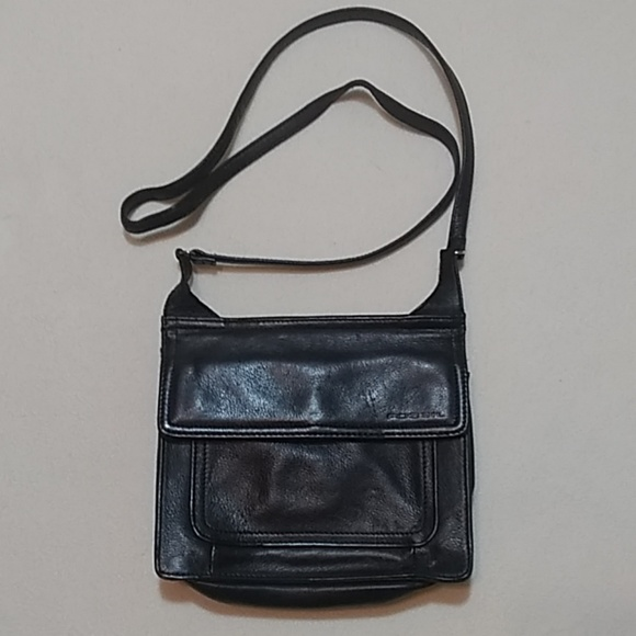 Fossil Handbags - Fossil Black Leather Crossbody Purse